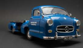 CMC - Mercedes  - cmc143 : 1955 Mercedes Benz Racing Car Transporter *The Blue Wonder*, blue