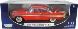 Motor Max - Plymouth  - mmax73115r : 1958 Plymouth Fury, red