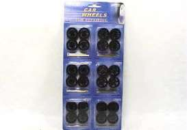 Wheels - Rims & tires  - wheels2003bk : Wheel Set 1/24 scale with 6 various rims on a blisterpack (6x4 wheels)