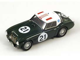 Kyosho - Austin  - kyo8147B : 1961 Austin Healey 3000 Le Mans Version #21, british racing green