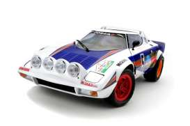 Kyosho - Lancia  - kyo8138C : Lancia Stratos HF Rally Targa Florio 1981 (without the Rothmans decals), white/blue