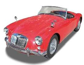 Norev - MG  - nor370022 : 1960 MG MGA Roadster, red with black interior