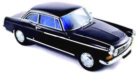 Norev - Peugeot  - nor474431 : 1967 Peugeot 404 Coupe, black with blue interior