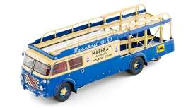 CMC - Fiat  - cmc097 : 1957 Maserati Transporter Fiat RN2 Bartoletti (Car NOT Included), yellow/blue