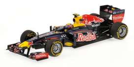 Minichamps - Red Bull Racing  Renault - mc410120072 : 2012 Red Bull Racing Renault M. Webber, blue/yellow