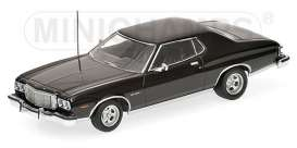 Minichamps - Ford  - mc400085201 : 1976 Ford Torino GT, black
