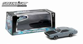 GreenLight - Dodge  - gl86217 : 1970 Dodge Charger Fast and Furious (IV 2009), primer grey.