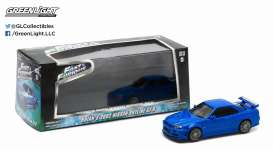 GreenLight - Nissan  - gl86219 : 2002 Nissan Skyline GT-R Fast and Furious (IV 2009), blue