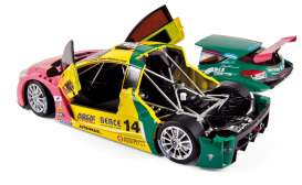 Norev - Renault  - nor185113 : 2012 Renault Megane Trophy World Series Winner Costa Team Oregon #14, pink/yellow/turqoise
