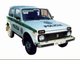 Ixo Ist Collection - Lada  - ixist118 : 1993 Lada niva (Vaz 2121) *Slovak Republik Police*, white