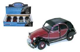 Welly - Citroen  - welly24009box4 : 1982 Citroen Charleston 2CV box of 4. 2 each of the grey/black and red/black
