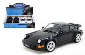 Welly - Porsche  - welly24023box4 : 2009 Porsche 964 Turbo box of 4. 2 each of the white & black