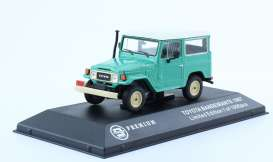 Ixo Premium X - Toyota  - T9-43019 : 1967 Toyota Land Cruiser, blue with white roof and black interior. Real Car Image Not Final Yet !!