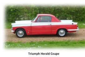 Ixo Premium X - Triumph  - T9-43023 : 1959 Triump Herald Coupe 2-tone , red/white with white interior. Real Car Image Not Final Yet !!