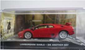 Magazine Models - Lamborghini  - magJBdiablo : Lamborghini Diablo James Bond *Die Another Day*, red