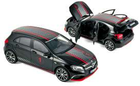 Norev - Mercedes  - nor183596 : 2013 Mercedes Benz A-class Sport Equipment High Quality, black with racing deco