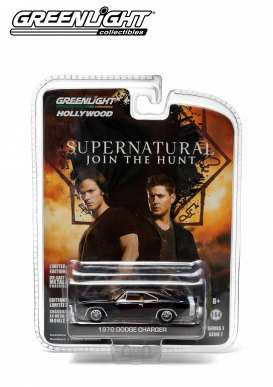 GreenLight - Dodge  - gl44670C : 1970 Dodge Charger from the TV Series Supernatural (2005-2013 episode 7.17) *Hollywood series 7*