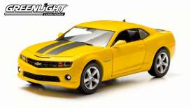 GreenLight - Chevrolet  - gl18219 : 2011 Chevrolet Camaro SS, yellow with black stripes