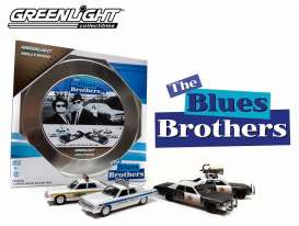 GreenLight - Dodge  - gl59010A : Hollywood Film Reels series 1 *Blues Brothers*. 4 cars in a nice metal tin box.