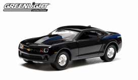 GreenLight - Chevrolet  - gl29786 : 2012 Chevrolet COPO Camaro with authentic COPO hood/engine, black with blue stripes