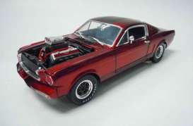 Shelby Collectibles - Shelby  - shelby117-1 : 1965 Shelby GT 350R with open hood and Drag Engine, Candy red/silver stripes