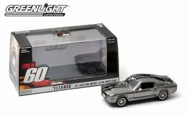 GreenLight - Ford  - gl86411 : 1967 Ford Mustang *Eleanor* Gone in 60 seconds (2000), tungsten grey with black stripes.