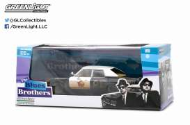 GreenLight - Dodge  - gl86421 : 1974 Dodge Monaco *Blues Brothers (1980)*, black/white