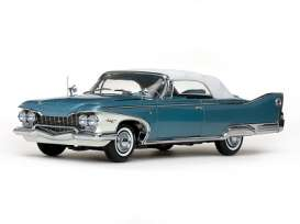 SunStar - Plymouth  - sun5412 : 1960 Plymouth Fury closed convertible, white/twilight blue metallic