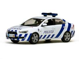 Vitesse SunStar - Mitsubishi  - vss29315 : 2010 Mitsubishi Lancer Portugal Madeira Islands police car, white