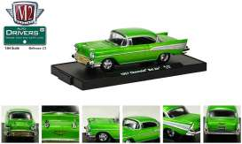 M2 Machines - Chevrolet  - M2-11228-23-3 : *M2-Drivers release 23* 1957 Chevrolet Bel Air, green