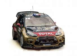 Norev - Citroen  - nor181549 : 2013 Citroen DS3 WRC Rallye de France Loeb/Elena, black/gold