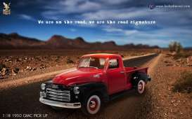 Lucky Diecast - GMC  - ldc92648r : 1950 GMC Pick Up, red/black