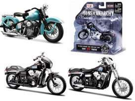 Maisto - Sons of Anarchy Harley Davidson - Mai35024B~3 : 1/18 Sons of Arnarchy assortment of 3pcs. Series B