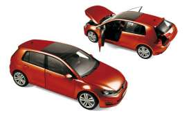 Norev - Volkswagen  - nor188517 : 2013 Volkswagen Golf, red