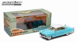 GreenLight - Cadillac  - gl12924 : 1955 Cadillac Fleetwood series 60, blue with white roof