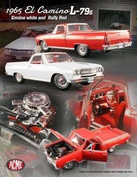 Acme Diecast - Chevrolet  - Acme1805403 : 1965 Chevrolet El Camino, rally red