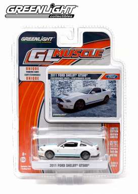 GreenLight - Shelby Ford - gl13090F : 2011 Ford Shelby GT500, white/blue