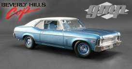 GMP - Chevrolet  - gmp18802 : 1970 *Beverly Hills Cop* Chevrolet Nova, blue with white roof.