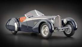 CMC - Bugatti  - cmc136 : 1938 Bugatti 57 SC Corsica Roadster with real Alligator leather, blue/silver