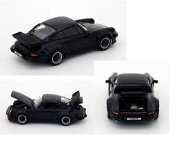 Kyosho - Porsche  - kyo5525db : 1976 Porsche 911 Turbo 3.3 with openable front Bonnet & Rear Lid, dark blue