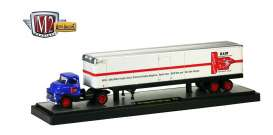 M2 Machines - Dodge  - M2-36000-11B23 : *Auto Haulers series 11B* 1957 Dodge Coe & BM Trailer, white/blue