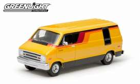 GreenLight - Dodge  - gl29800C : 1976 Dodge B100 van, 70s orange