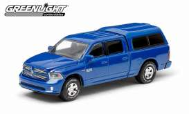 GreenLight - Dodge  - gl29800F : 2014 Dodge Ram 1500 with Camper, blue