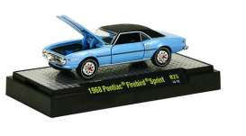 M2 Machines - Pontiac  - M2-32600-25-1 : Detroit Muscle Cars release 25; 1968 Pontiac Firebird - Alpine Blue Metallic w/Semi Gloss Black Vinyl Top