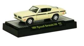 M2 Machines - Plymouth  - M2-32600-25-3 : Detroit Muscle Cars release 25; 1969 Plymouth Barracuda 340  - SunFire Yellow w/Black Stripes
