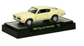 M2 Machines - Plymouth  - M2-32600-25-4 : Detroit Muscle Cars release 25; 1969 Plymouth Barracuda  - SunFire Yellow