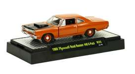 M2 Machines - Plymouth  - M2-32600-25-5 : Detroit Muscle Cars release 25; 1969 Plymouth Road Runner 440 6-Pack - Bronze Fire Metallic Body