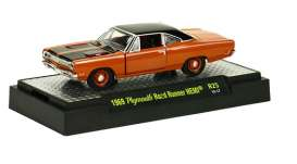 M2 Machines - Plymouth  - M2-32600-25-6 : Detroit Muscle Cars release 25; 1969 Plymouth Road Runner HEMI - Bronze Fire Metallic Body w/Gloss Black Roof