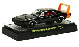 M2 Machines - Dodge  - M2-31600HM01-2 : 50 Years 426 HEMI release HM01; 1969 Dodge Charger Daytona HEMI - Black w/HEMI Orange Stripe