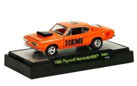 M2 Machines - Plymouth  - M2-31600HM01-4 : 50 Years 426 HEMI release HM01; 1968 Plymouth Barracuda HEMI - HEMI Orange